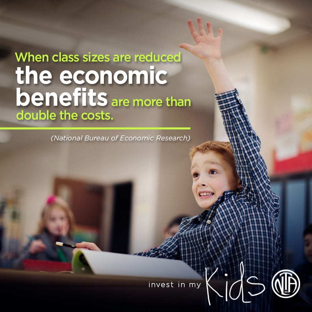 When class sizes are reduced the economic benefits are more than double the costs.