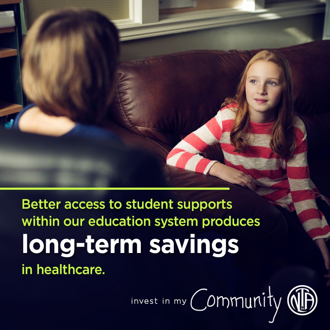 Better access to student supports within our education system produces long-term savings in healthcare.